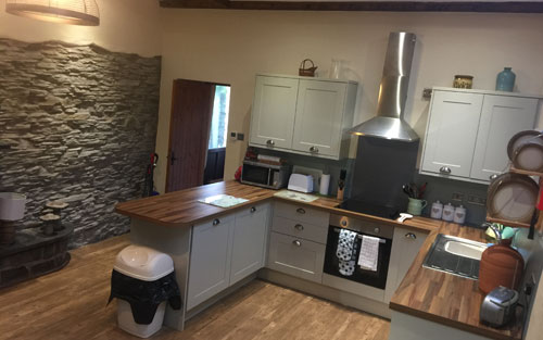 View of kitchen, Old rectory mews cottage 1