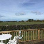 A view from the Veranda looking towards Dinas Head.