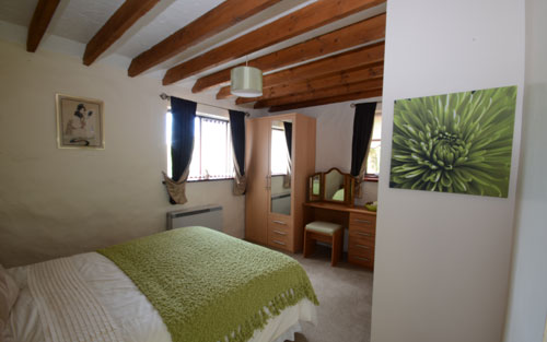 Master bedroom at old chapel cottage self catering accommodation